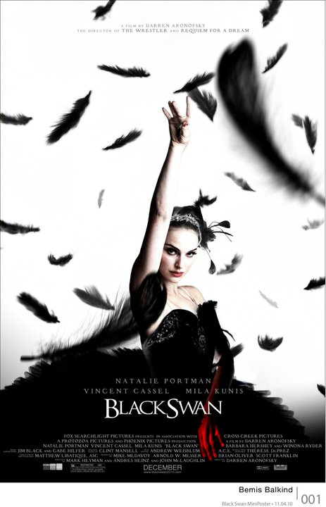 "New poster for ""Black Swan"", the movie stars Natalie Portman, Mila Kunis,"